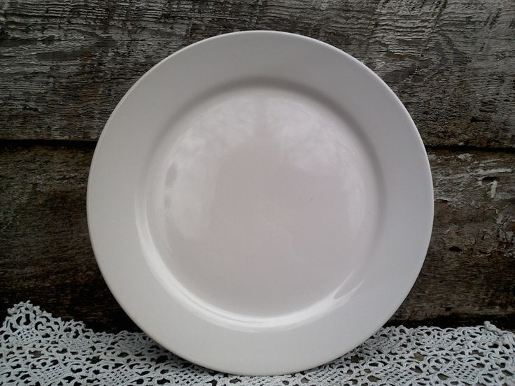 """Antique Plain White Ironstone Dinner Plate, 10 5/8"""", Ironstone, White, Large, Charger, Tableware, French Country, Farmhouse Decor, Rustic by CottonCreekCottage on Etsy"""