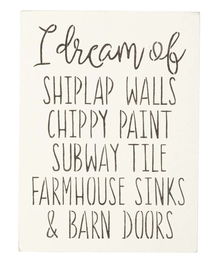 Take a look at this 'I Dream of Shiplap Walls' Indoor/Outdoor Wall Sign today!