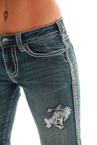 Womens Cowgirl Tuff Wild and Wooly Shimmer Jeans