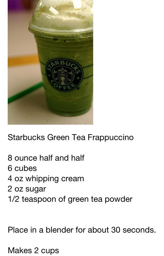 Starbucks Green Tea Frappe Delicious Dupe