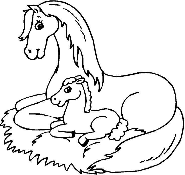 simple horse coloring pages | 19 best Rapunzel: Disegni da Colorare images on Pinterest ...