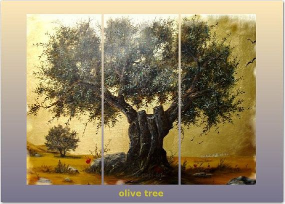 "Original Handmade Oil Landscape Painting on canvas, 70 x100,   27,6x39,4"" 3 panels"
