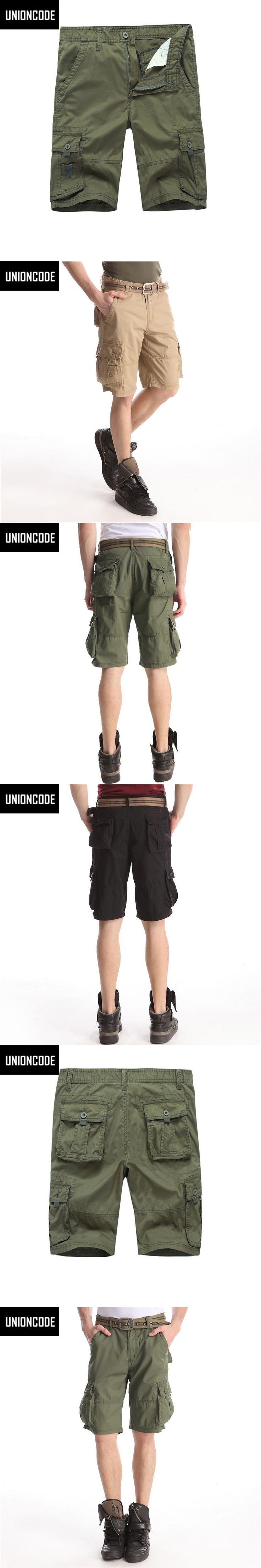 Cargo Shorts Hot Sale Flat Military Knee Length Loose Cotton Pantalon Corto Hombre Male Army Work Casual Shorts For Men 1008