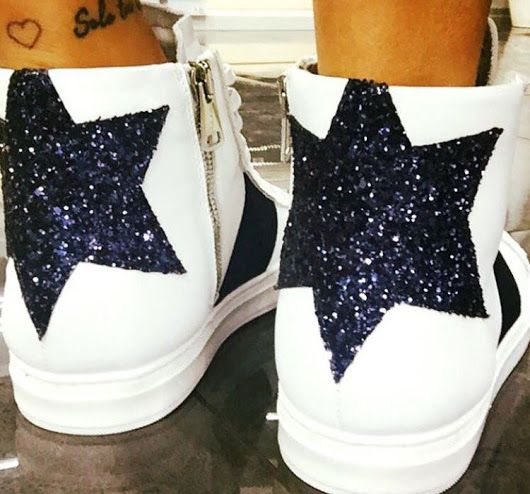 Star 🌟 #Stokton #FabioSfienti #shoes #sneakers #madeinitaly #star #glitter #...