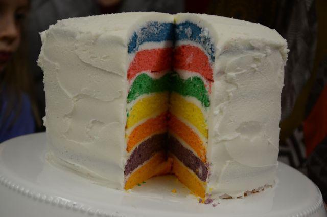 Recipe Shoebox: how to make a rainbow layer cake