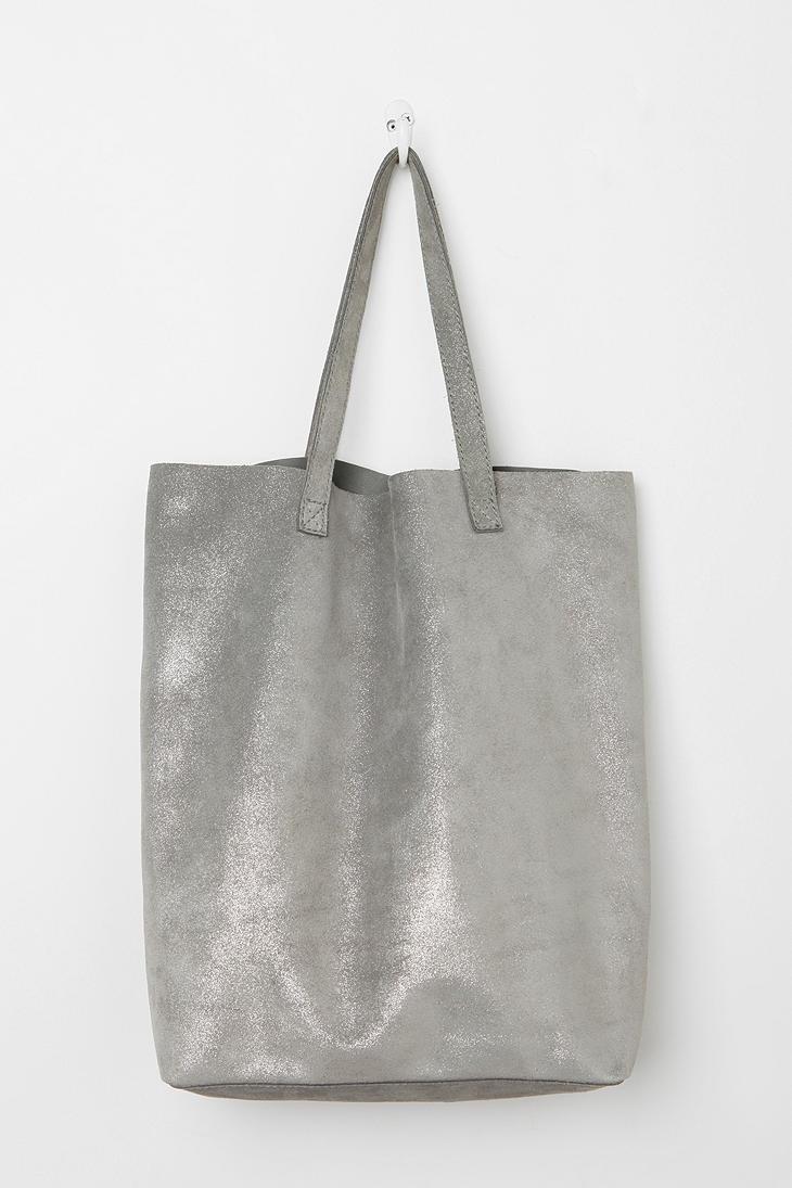 Monserat De Lucca Metallic Cava Tote Bag 16''Long x 15'' High- so simple