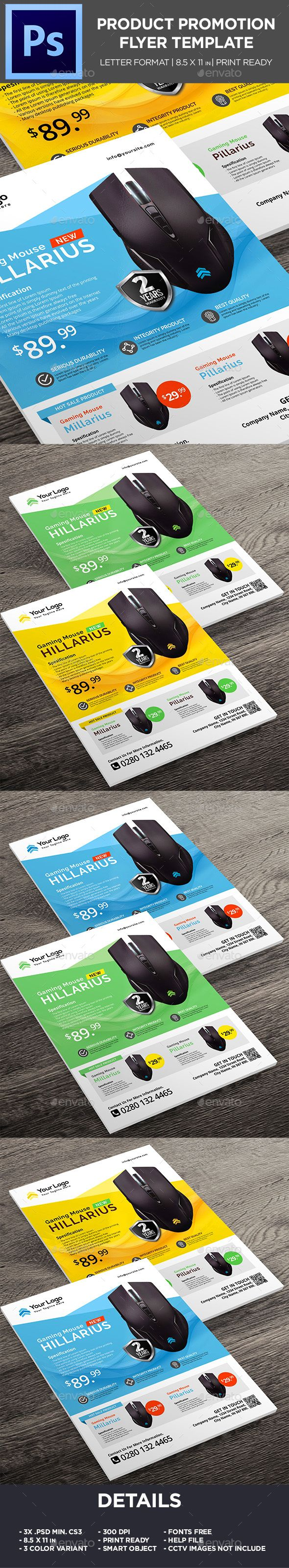 Mouse Gaming Product Flyer - Corporate Promotion Flyer