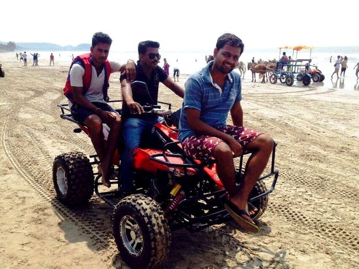 Enjoy 250cc ATV riding at Kashid beach, Alibaug.
