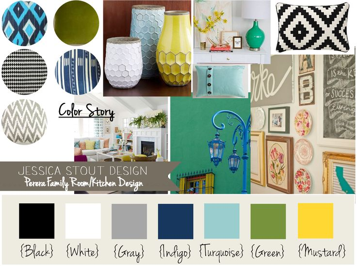 I Like The Navy Turquoise Yellow Gray And Green Happy Color Palate For The Living Room