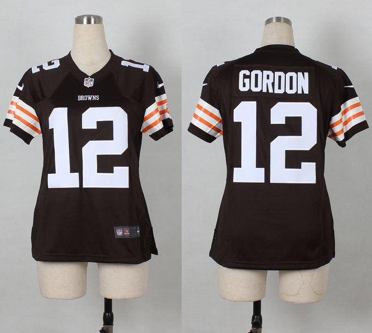 fe80b16d81d Womens Cleveland Browns 12 Josh Gordon Brown Nike 2014 Jerseys