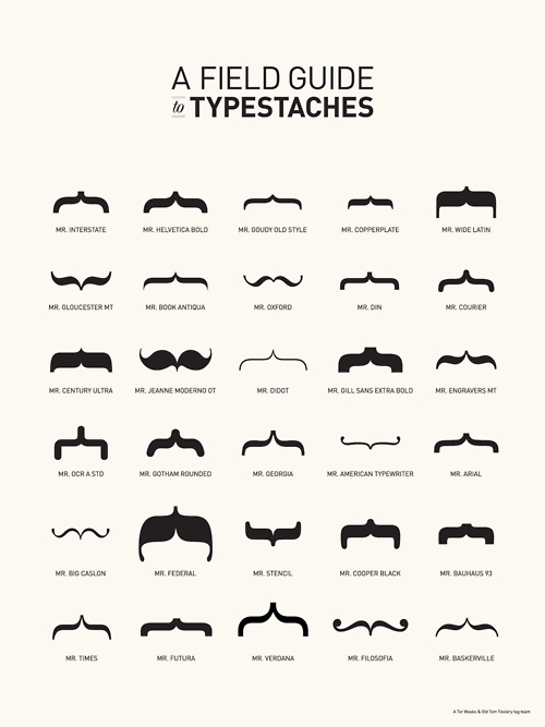 A field guide to Typestaches.