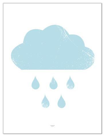 Plakat blå sky/poster blue cloud