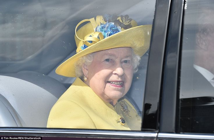 It was colourful affair for the royals today as they joined the Queen (pictured) for Easter mass at St George's Chapel in Windsor castle