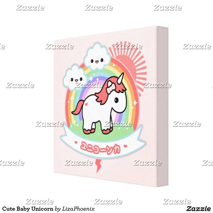 De leuke Eenhoorn van het Baby Canvas Afdrukken