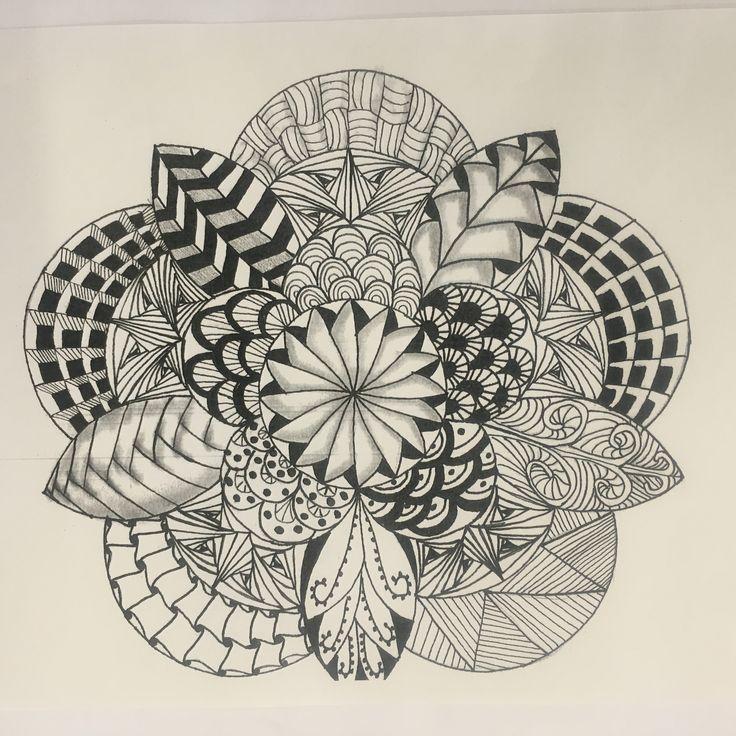Zentangle Lesson Plan.Great piece!  #zentangle #highschoolart #mesavistahighschool #ojocaliente #newmexico