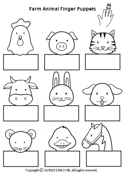 Farm Animal Finger Puppets - Perfect for #ESOL kids lessons with farm animals. You could practice basic greetings and even connect this to Easter lessons too. #EFL