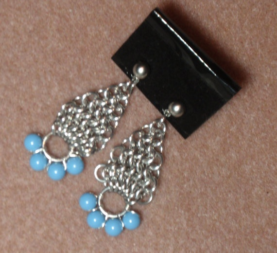 Swarovski crystal turquoise pearl european weave by LTSCreations, $12.00