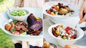 Åker grillen fram i dag? Testa den här härliga tomatsalladen till, passar både fisk, kyckling och kött!
