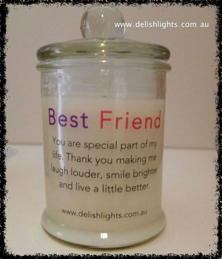 Best friends candle Made in your favourite fragrance www.delishlights.com