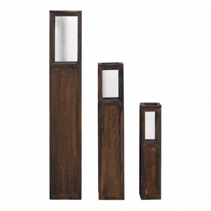 Modern Home Shelving Unit Display Storage 3 Pieces Glass Cabinet Candle Holder #ModernHomeShelvingUnit #Modern