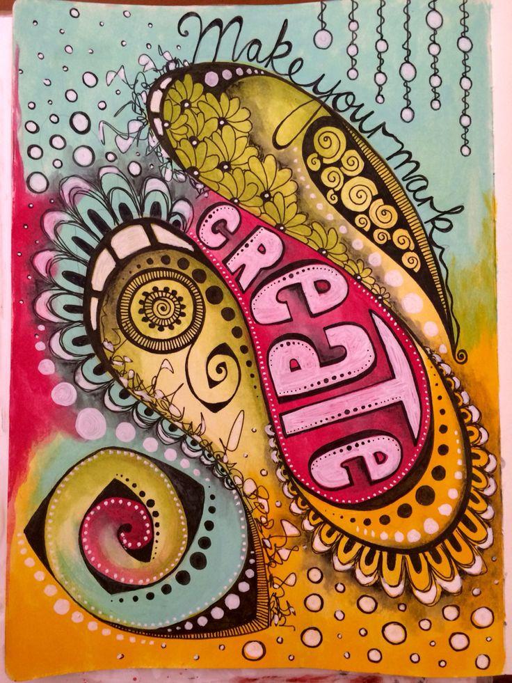 Doodle art journal page with @Decoart media line paints #art #acrylic…                                                                                                                                                                                 More