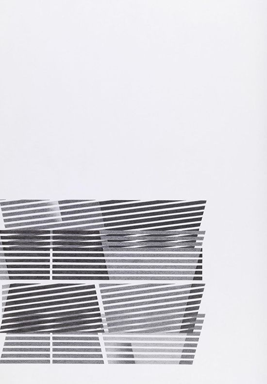 Tomma Abts Untitled #3, 2014 pencil and colour pencil on paper 84.1 × 59.4 cm