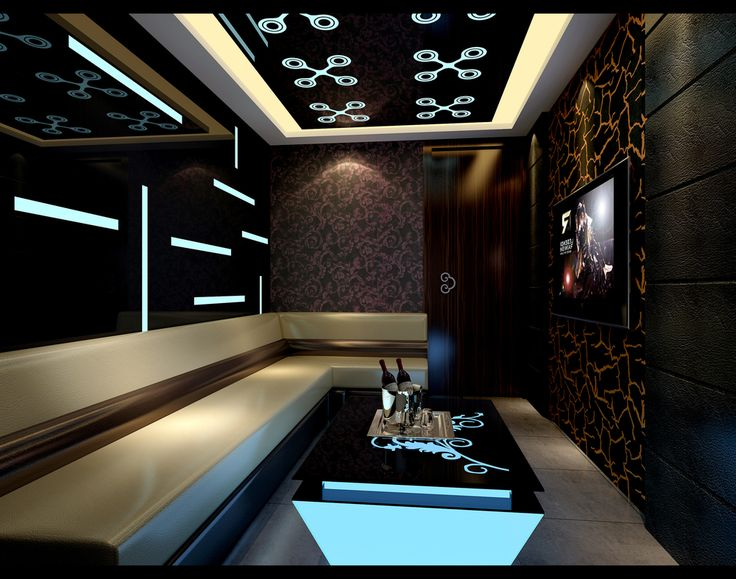 Young and creative karaoke room design in china for Living room karaoke