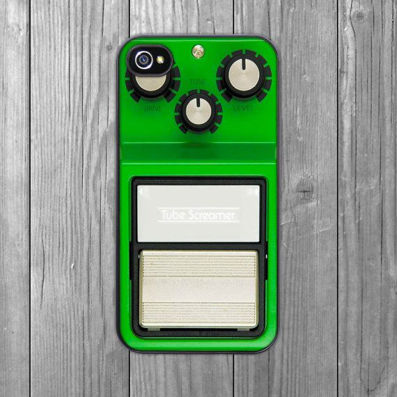 iPhone Case Guitar Pedal Green Hardshell by CrankCases on Etsy, $17.99
