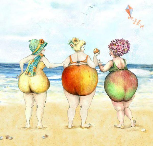 Девушки и фрукты
