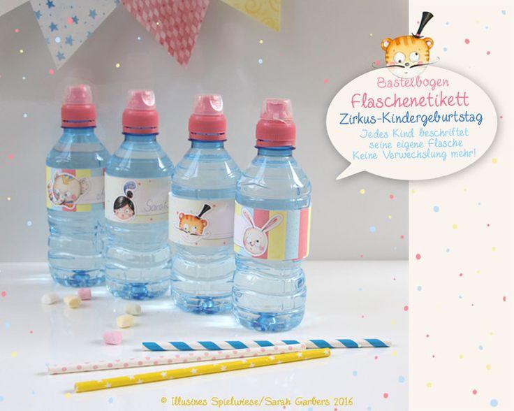 Dekoration - Bastelbogen Din A4 | Trinkflaschenetikett | Zirkus - ein Designerstück von Illusine bei DaWanda