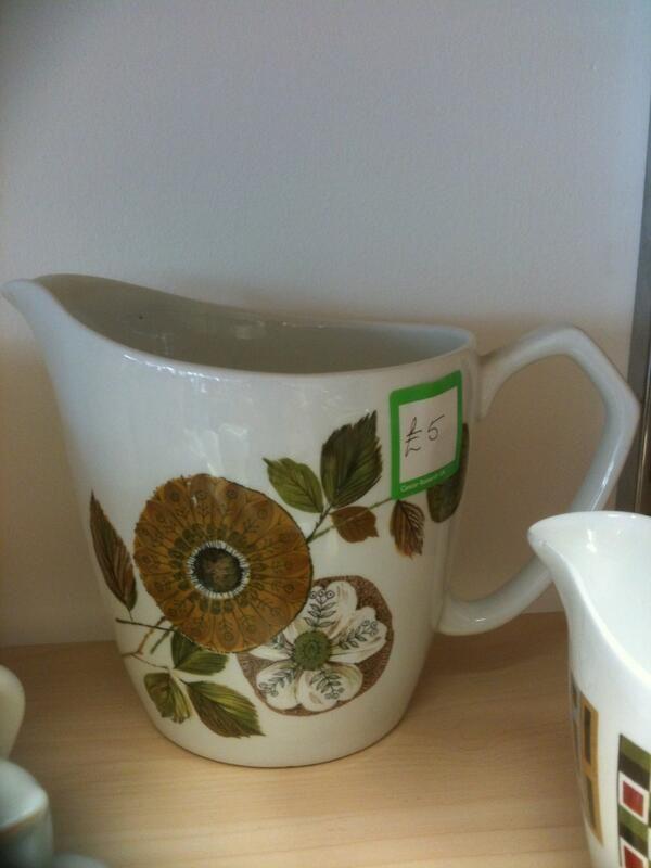 Alfred Meakin Glo-White jug - in a Newbury charity shop 2/10/13