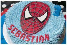 #spiderman #cake #pastel de #merengue