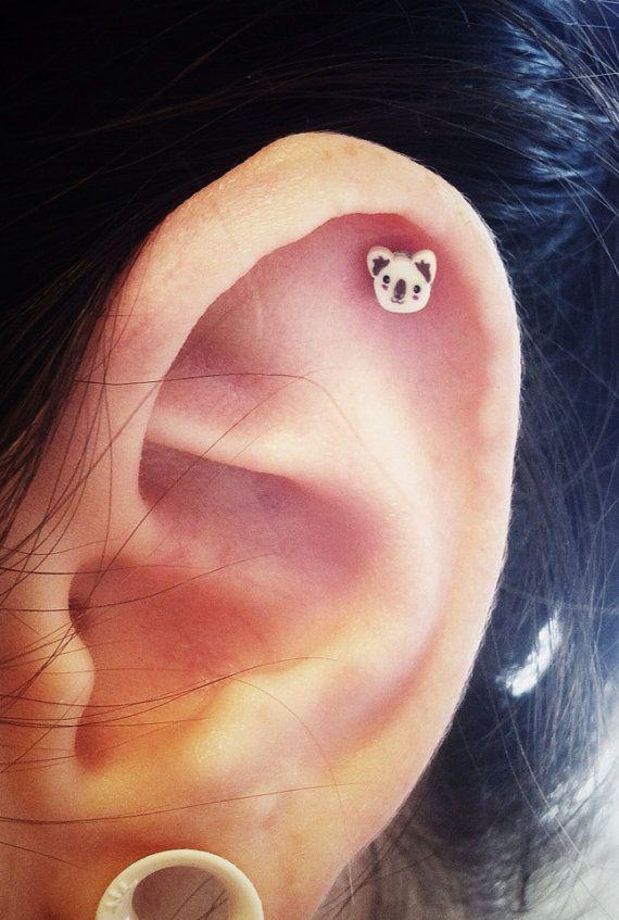 Adorable Koala Surgical Steel Stud Earring. So Cute!!!