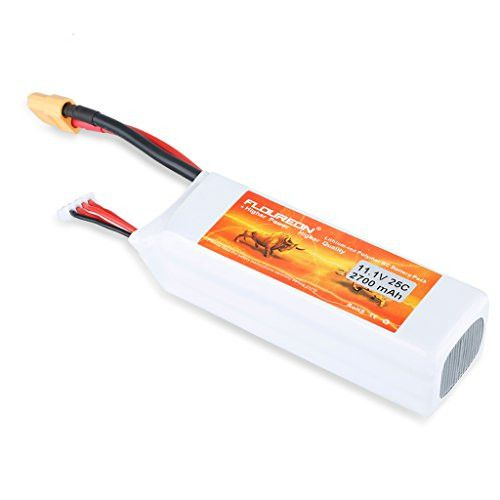 Floureon 11.1V 2700mAh 25C 3S Lipo Battery Pack with XT60 Plug Connector for Cheerson CX - 20 RC Quadcopter RC Helicopter RC Aircraft Airplane RC Hobby DJI Phantom