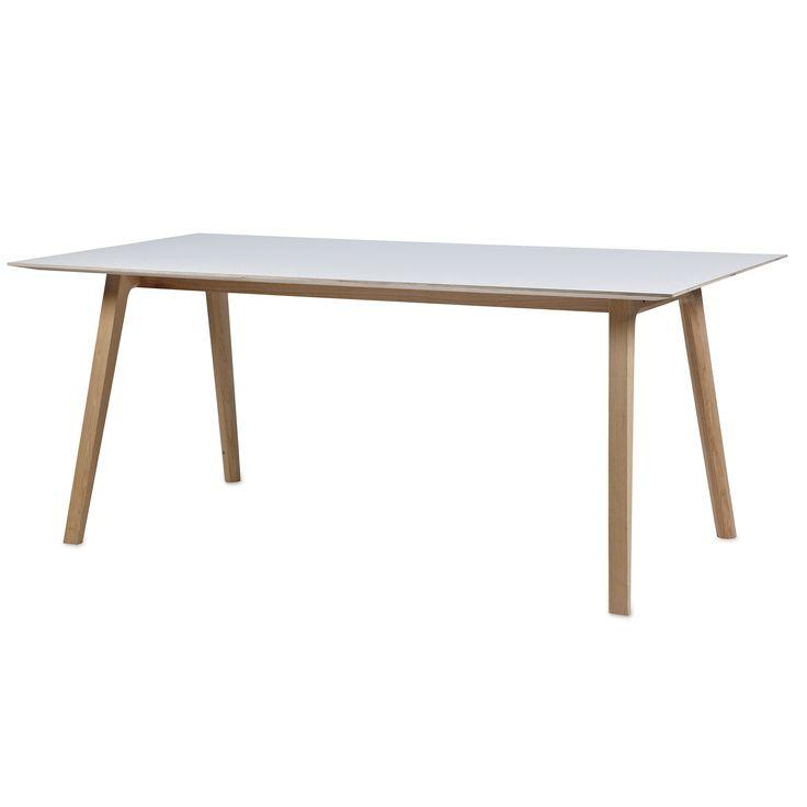 Bella Desk tafel   Hay; verkrijgbare lengtes 180 en 240; tafelblad wit laminaat of zwart linoleum