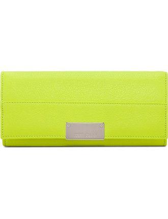 Reza Flap Wallet With Silver Hardware #jimmychoo #djstyle