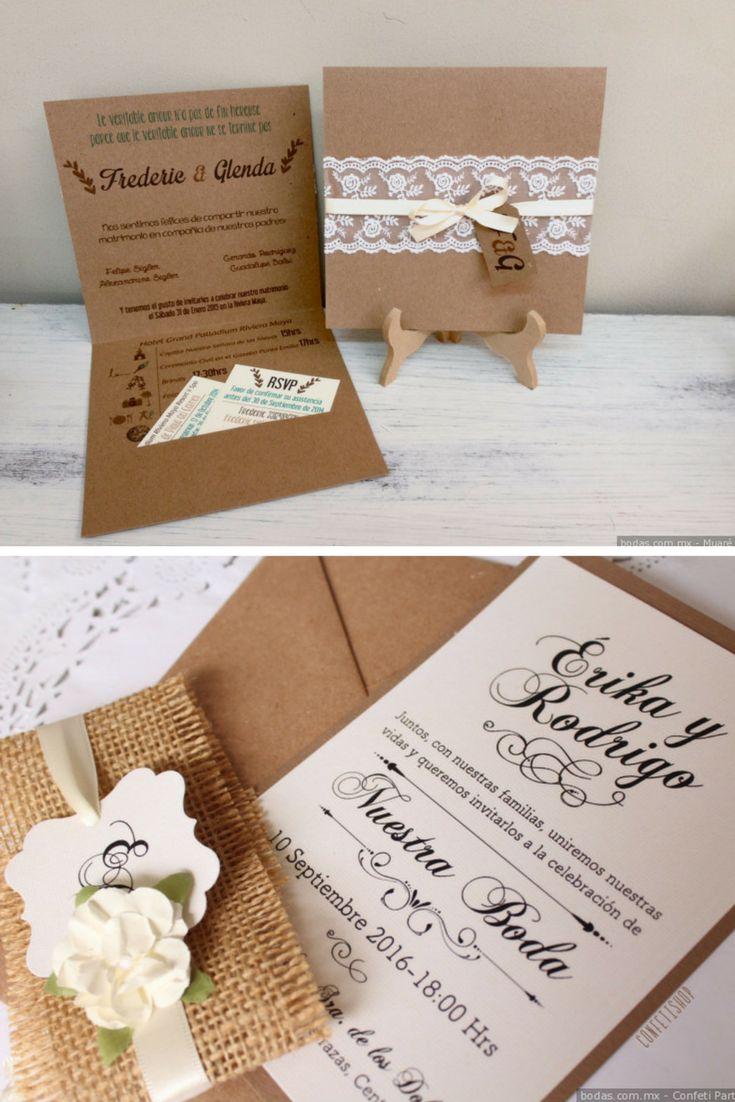 Invitaciones Para Matrimonio Rustico : Imágenes de invitaciones boda tan genuinas como se