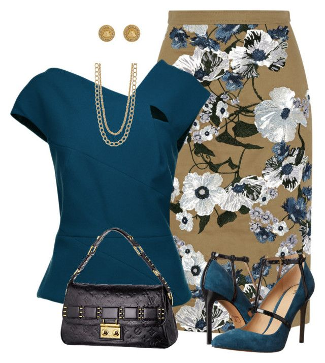 """""""Sin título #1699"""" by marisol-menahem ❤ liked on Polyvore featuring Erdem, Roland Mouret, Joe's Jeans, Louis Vuitton, Versace and Stella & Dot"""