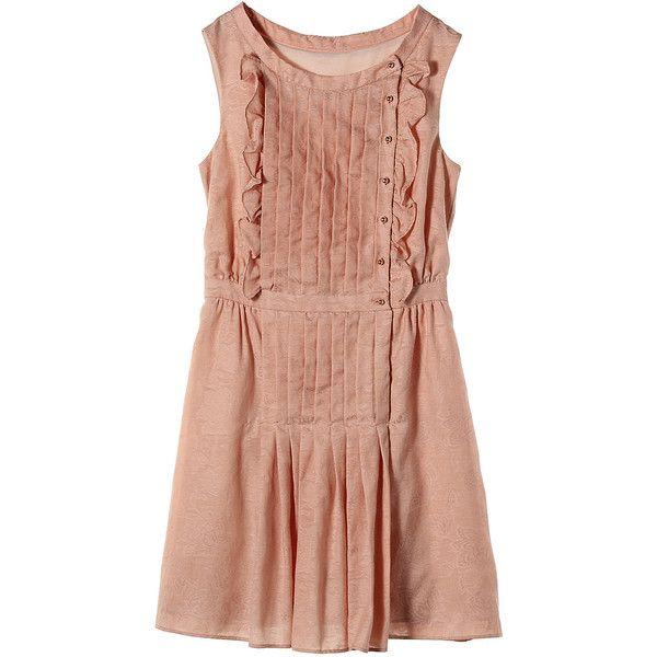 【ELLE SHOP】ワンピースピンクベージュ|ジル スチュアート(JILLSTUART)|ファッション通販 エル・ショップ ($275) ❤ liked on Polyvore