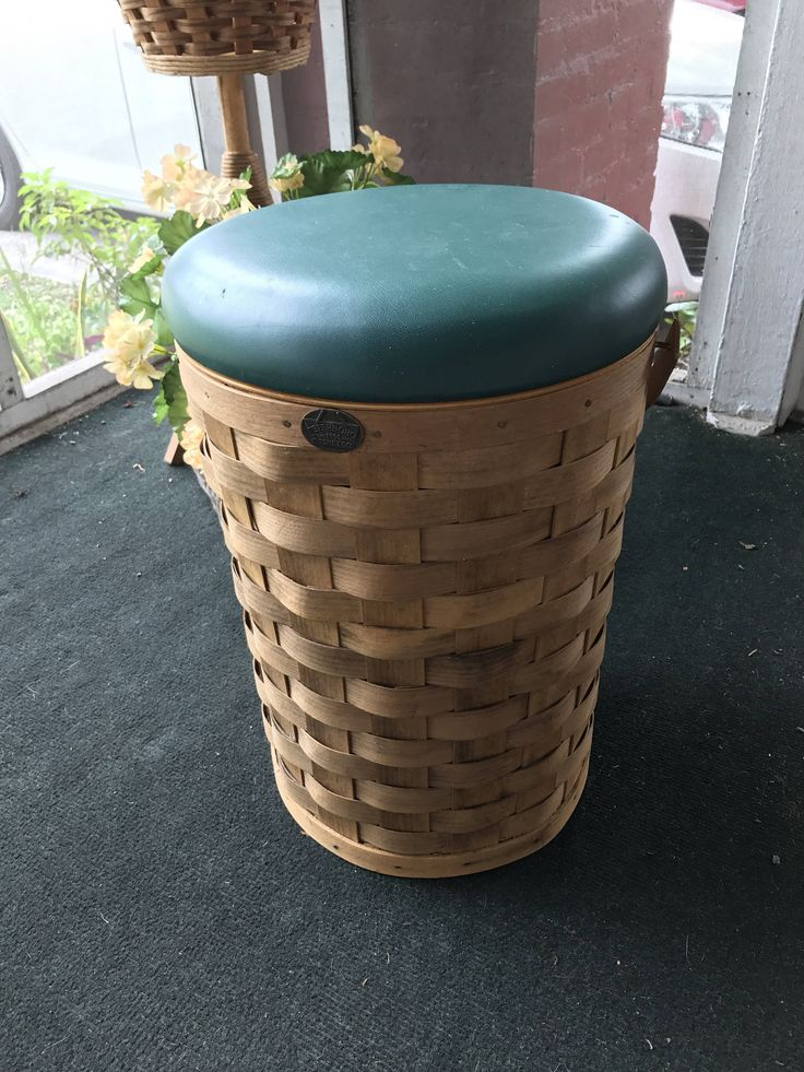 A personal favorite from my Etsy shop https://www.etsy.com/listing/537767525/vintage-cool-stool-peterboro-wood-basket