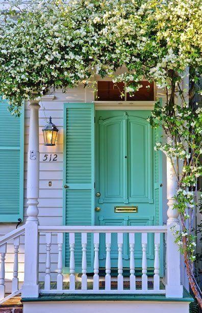 Light Blue Front Door