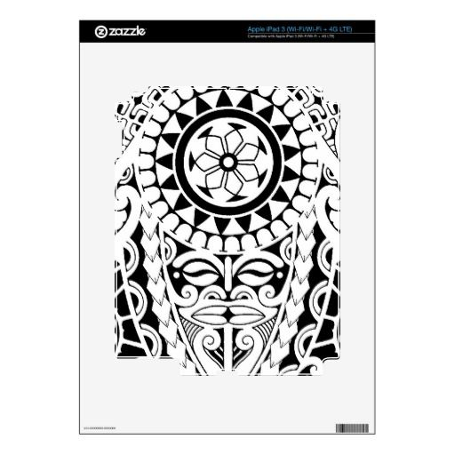 polynesian designs and patterns | this is a tattoo i designed for the shoulder and upper arm it has a ...