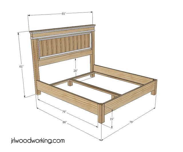 Free log bed frame plans woodworking projects plans for Free log bed plans