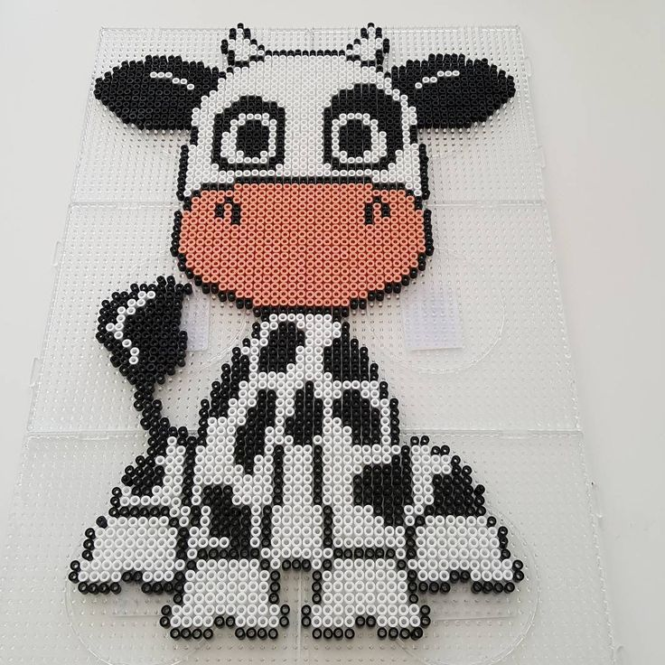 Cow hama beads by stineesbjerg