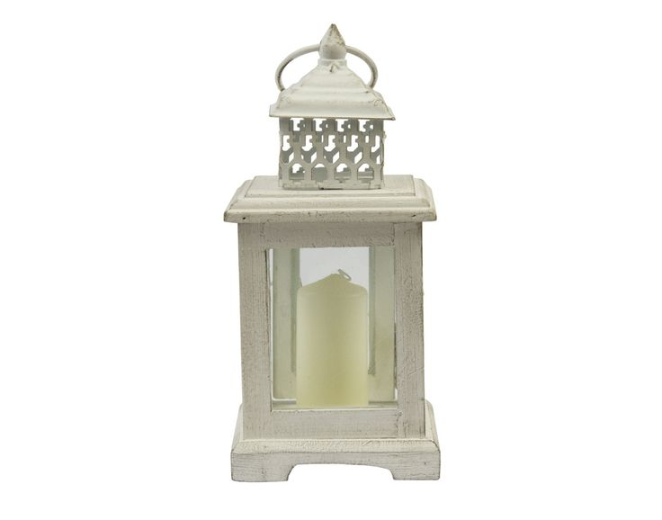 from white table lantern
