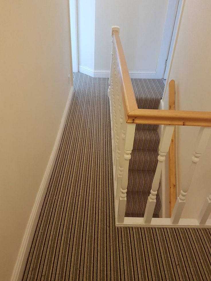 Installing stripes in your home, on the #stairs, will brighten up your staircase overall. Fitted/image by NICF.