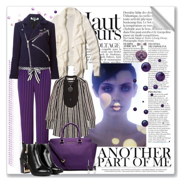 """""""The violet dot, the black dot, the white dot"""" by fiery555 ❤ liked on Polyvore featuring Anja, Juicy Couture, Kenzo, Tory Burch, MICHAEL Michael Kors and Allurez"""