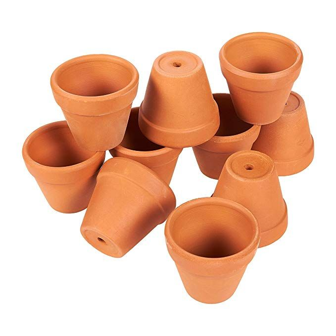 Juvale Terra Cotta Pots 10 Count Terracotta Pots 2 Inch Mini Flower Pots With Drainage Holes Clay F Terracotta Pots Terracotta Flower Pots Clay Flower Pots