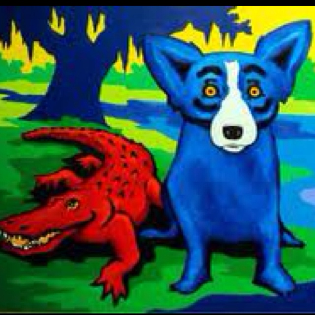 Look out for that croc Blue dog!