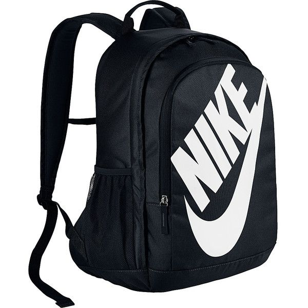 Nike Hayward Futura 2.0 Backpack - BLACK/BLACK/(WHITE) - School... ($39) ❤ liked on Polyvore featuring bags, backpacks, black, nike backpacks, nike, nike rucksack, padded bag and padded backpack